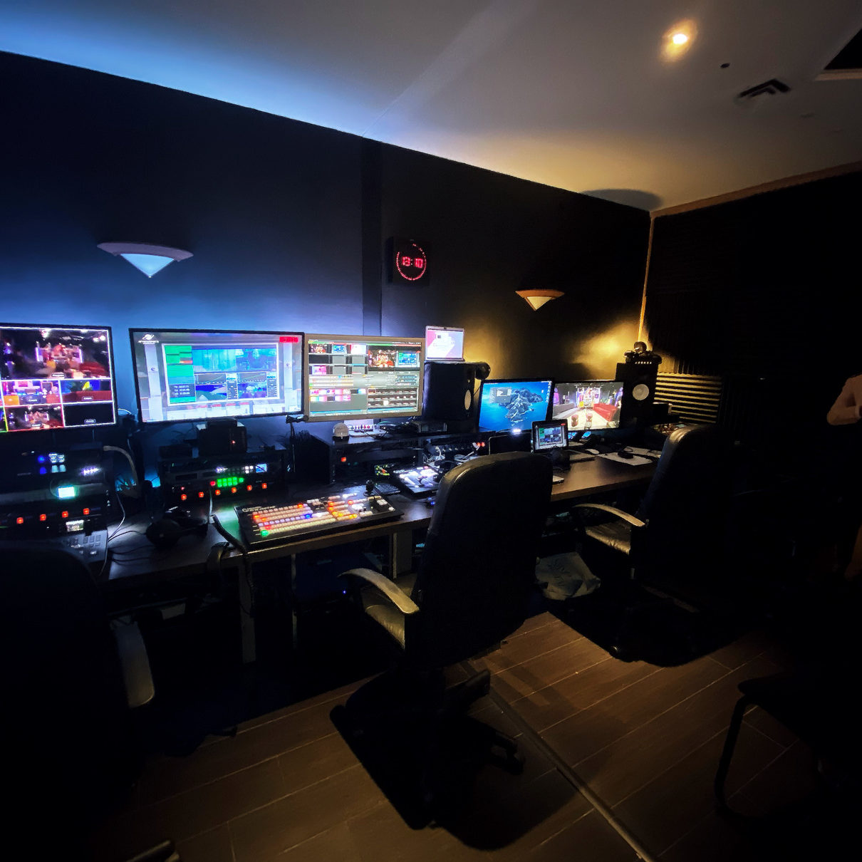 Full servie live broadcasting studio in Paris - Videology Studio