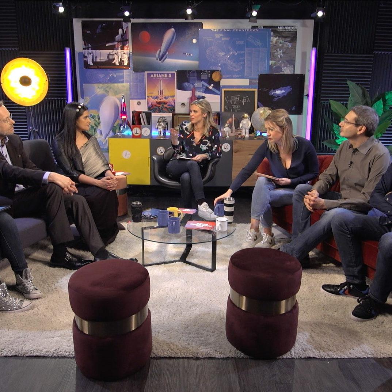 Live broadcasting studio in Paris - Ariane The Final Countdown rocket launch - Videology Studio
