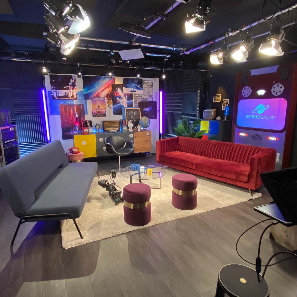 Ariane rocket launch studio set | Videology Studio